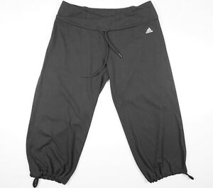 Adidas-Climalite-Women-039-s-Dark-Gray-Cropped-Capri-Athletic-Yoga-Pants-Sz-S-EUC