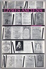LIVRES ANCIENS EN ROUMANIE 1962 BIBLIOPHILIE 51 PLANCHES LIVRES RARES V. CANDEA