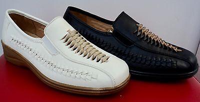 Damen Sommer Schuhe Mokassins Pumps Lochmuster Ballerinas Schwarz und Weiß 36-42