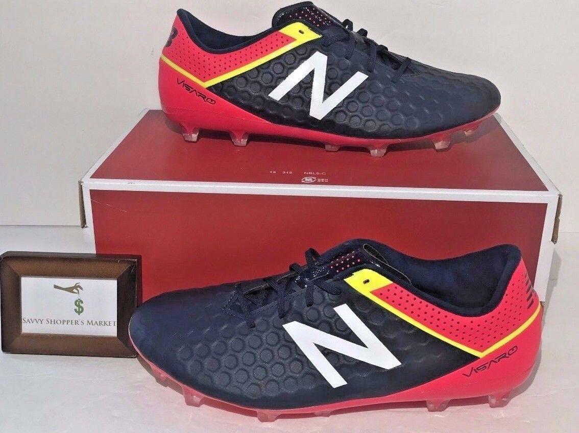 New Balance  Herren Größe 8 Visaro Mid Level Fg Soccer Schuhe Blau Galaxy