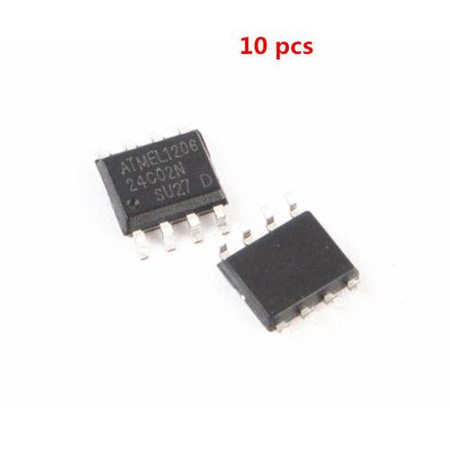 10Stk  AT24C02 24C02 Serial EEPROM SOIC-8 ATMEL