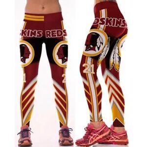 77539212653776 Women's Clothing Washington Redskins Leggings Football Athletic NFL Yoga  Stretchy L/XL Activewear Bottoms