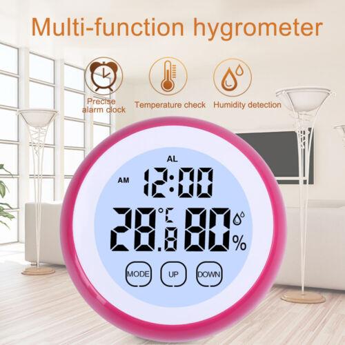 EE/_ CW/_ Temperature Humidity Meter Digital Thermometer Moisture Hygrometer Alarm