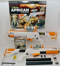 Ps3 Cabelas African Adventures Bundle With Gun Video Game Animal Play Activity