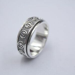 NEW Pure S925 Sterling Silver Ring Perfect Elegant Tighten Mantra Unique Ring