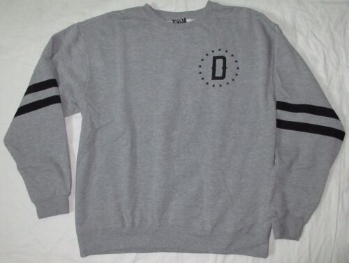 DFYNT STRIPED SLEEVE CREWNECK SWEAT SHIRT GREY XL 2XL