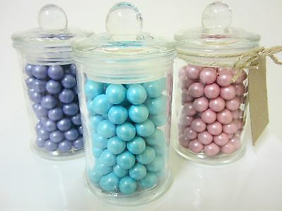 130x 150ml Mini Small Glass Jars Candy Lolly Buffet Wedding Party Favours