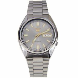Seiko-5-Automatic-Grey-Dial-Silver-Steel-37mm-SNXS75K1-Men-039-s-Watch-RRP-169