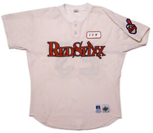 RUSSELL ATHLETIC 1990s Columbus RedStixx MiLB Jersey Cleveland Indians #23 Large