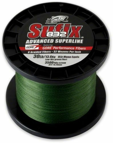 New Sufix  832 Braid 65Lb 3500Yds Lo-Vis Green Fishing Line 660-465G  official website