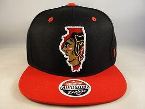 Chicago-Blackhawks-NHL-Snapback-Hat-Cap-Zephyr-Statement
