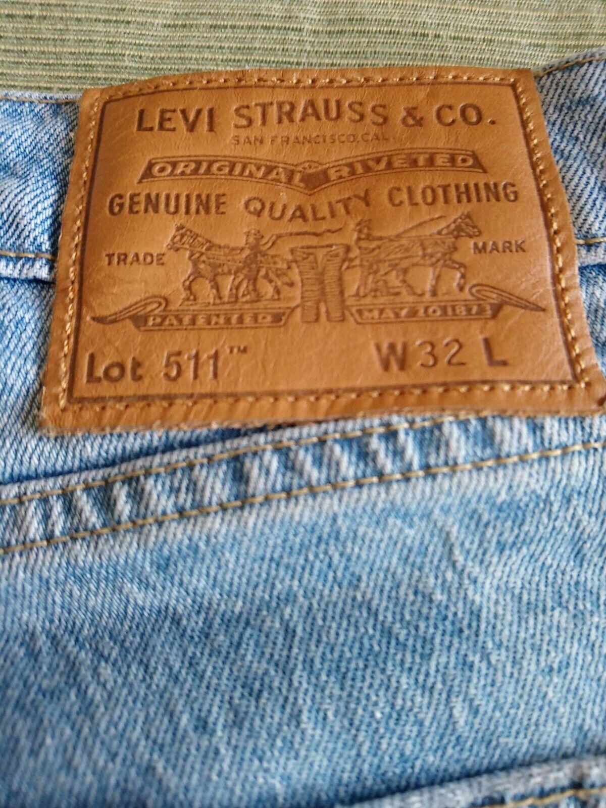 Levis 511 Big E Denim Shorts Size 32 - image 3