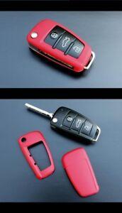 Für Audi Klapp Schlüssel Cover Key Cover Schlüssel Hülle Fernbedienung Schwarz