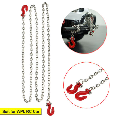 For WPL B14 B-16 B-24 C14 RC Military Truck Metal Trailer Hook Chain Spare Part