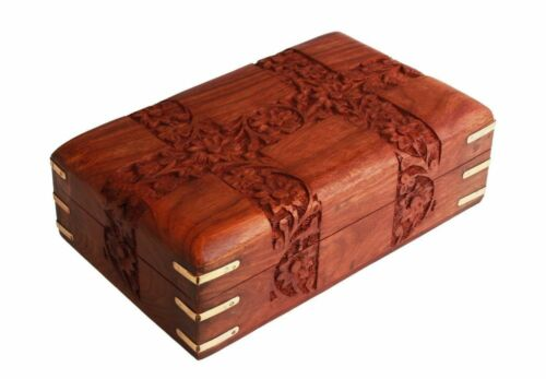 Christmas Thanksgiving Gifts Fine Rosewood Jewelry Trinket Box Keepsake Organize