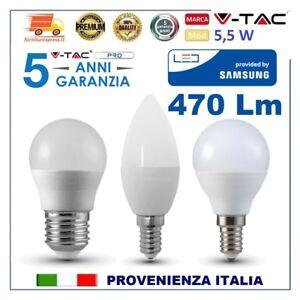 LAMPADINE-LED-V-Tac-SAMSUNG-E14-E-27-Lampada-Candela-Mini-Globo-Sfera-Oliva