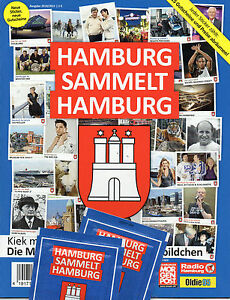Hamburg-sammelt-Hamburg-Leeres-Sticker-Album-Blau-2010-2011-Serie-2
