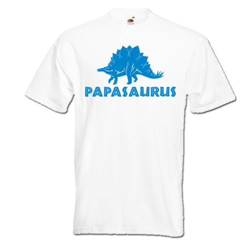 Papasaurus stegosaurus dinosaure papa papa papa t-shirt homme father jour idée cadeau