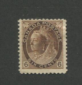 1898-Canada-6-Cent-Brown-Stamp-Scott-80-Queen-Victoria-CV-200