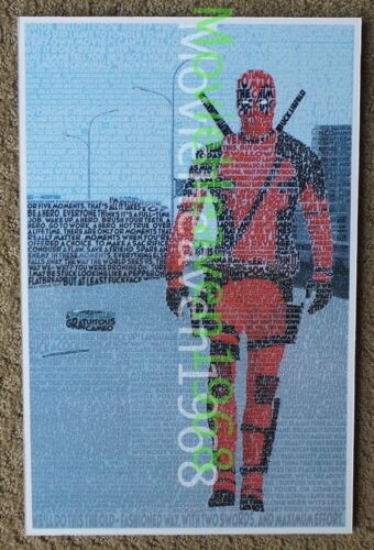 DEADPOOL DEAD POOL MOVIE PROMO RETRO STYLE LIMITED EDITION MINI POSTER