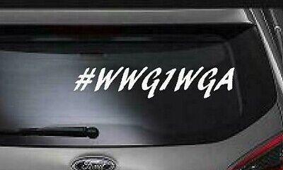 Qanon Wwg1wga Trump Vinyl Decal Bumper Sticker For
