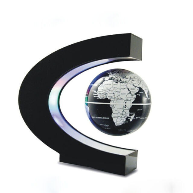 C shape LED World Map Decoration Magnetic Levitation Floating Globe Light Nice i