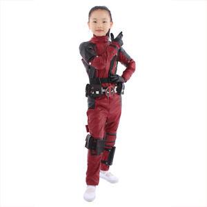 Details About Deadpool Cosplay Costume Kids Girls Boys Deadpool Cosplay Custom Made