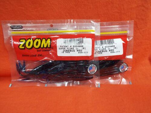 10cnt 2 PCKS #056-117 JUNEBUG RED ZOOM Super Fluke Jr