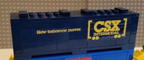Lego Intermodal Double-stack Container Car Southern Pacific PLEASE READ AD