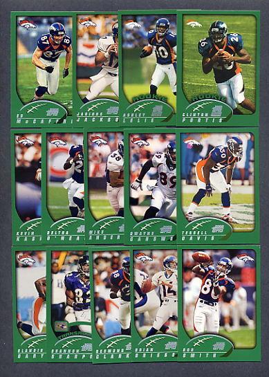 2002 Topps Denver Broncos TEAM SET - Clinton Portis ROOKIE