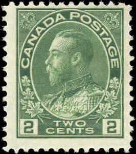 Mint-H-1923-Canada-F-Scott-107e-2c-King-George-V-Admiral-Stamp