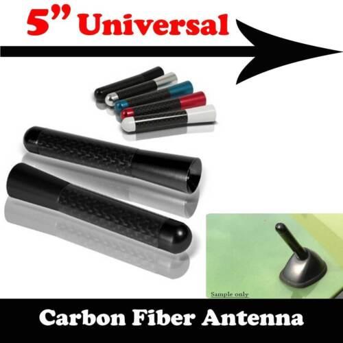 "5/"" Stubby Real Carbon Fiber Aluminum Short Antenna Black Screws For KIA Car"