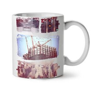 City Life Street NEW White Tea Coffee Mug 11 oz   Wellcoda