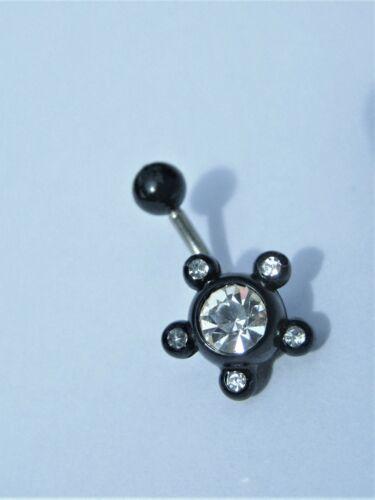 Flower Crystal Bioflexi Belly Bar6mm 8mm 10mm 12mm 14mm 16mm 20mm+
