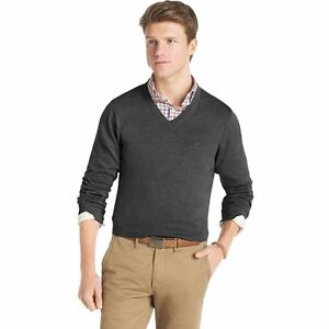 699a02fdaffbcf New Men IZOD Lightweight Sold V-Neck Cotton Sweater - Multi Colors ...