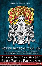 "THE GREAT SABATINI /UNBALANCED ""NORTH AMERICAN TOUR 2014"" ONTARIO CONCERT POSTER"
