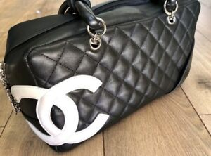 8c379cb8330c Image is loading Chanel-Cambon-Bowler-Bag-Quilted-Leather-Medium