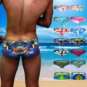 Men-039-s-Summer-Swim-Shorts-Swimwear-Swimming-Trunks-Charm-Boxer-Briefs-Boardshorts