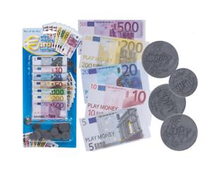 Simplement dilapider Plastique Pièces en papier Billets de 90 pièces monnaie € euro épicerie enfant