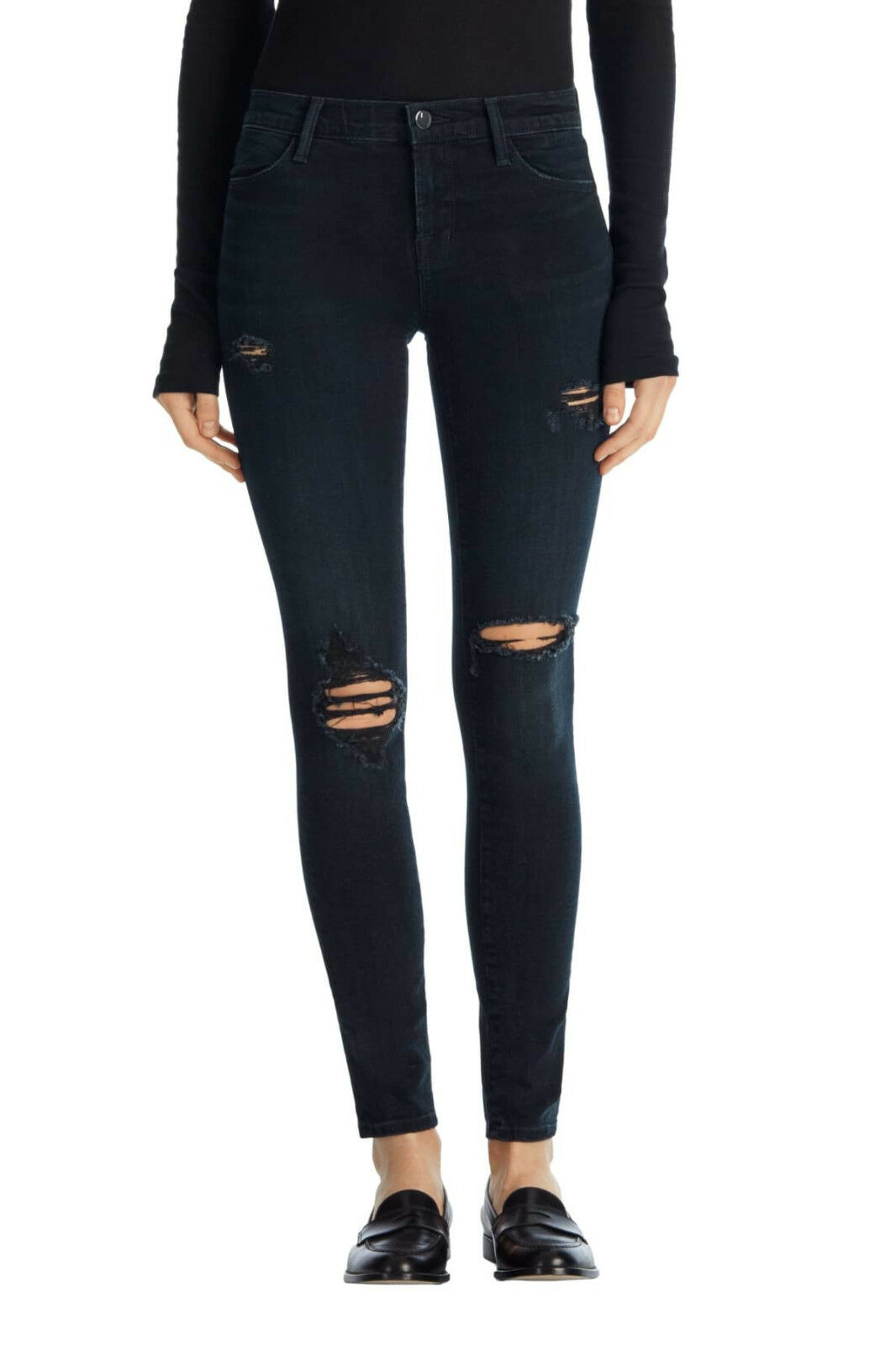 J Brand Maria High Rise Skinny Jeans In Destructed Sanctity Size 31 BRAND NEW