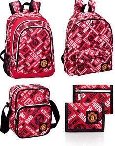 6ecaca2f69 Image is loading Manchester-United-Official-Club-Backpack-Rucksack-Wallet- Shoulder-