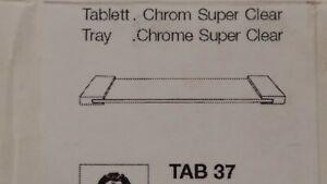 In Konstruktiv Dekor Walther Kosmetik Tablett Tab 37 Ablage Chrom Klarglas 0848802 Ausgezeichnete QualitäT