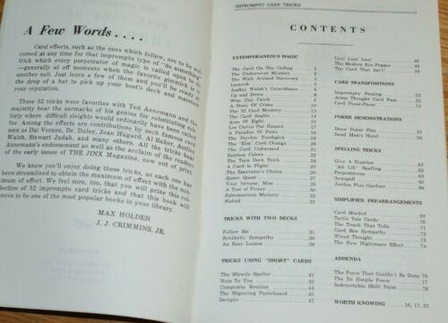 Annemann, recent reprint --TMGS Book-MANIA FULL DECK OF IMPROMPTU CARD TRICKS