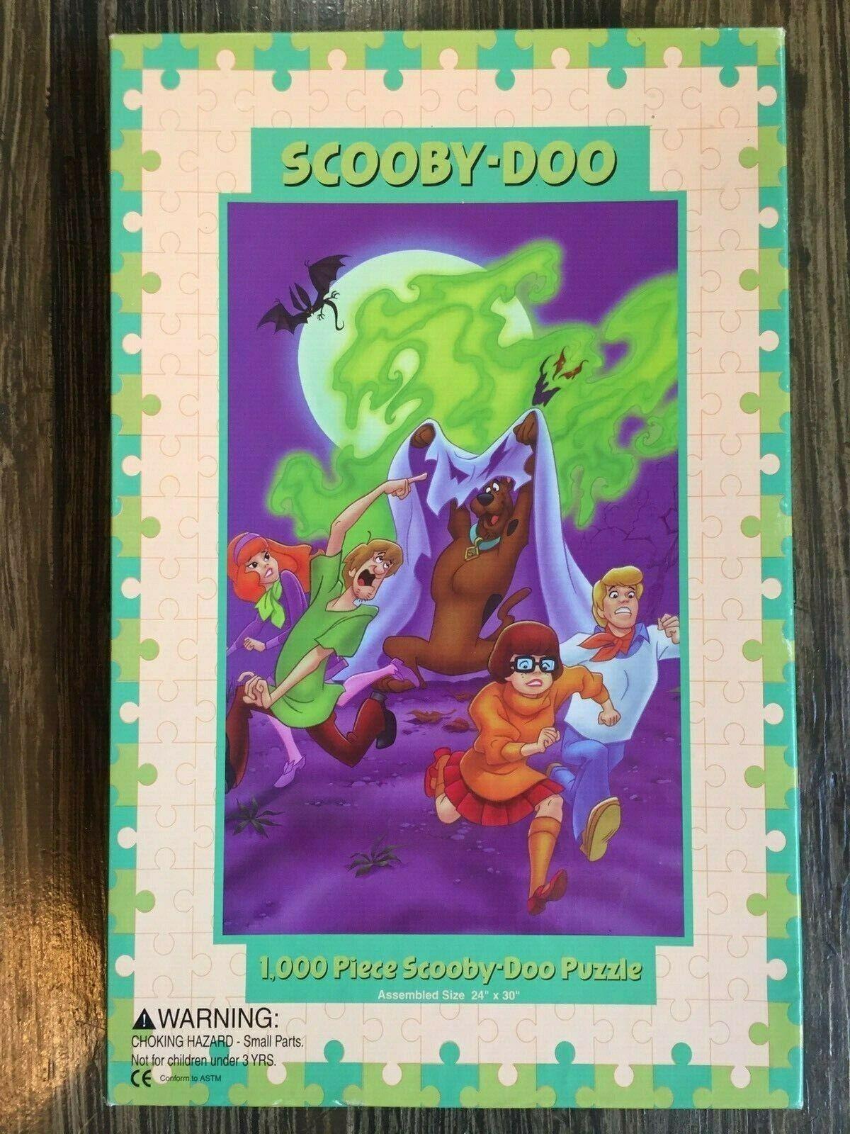 SUPER  RARE Scooby Doo 1000 Piece Jigsaw Puzzle 1997 Warner Bros  comprare a buon mercato
