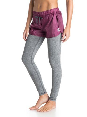 Sz Fitness inferiori Pantaloni Roxy Medium Kick e viola grigi High Donna BgzqSnWR