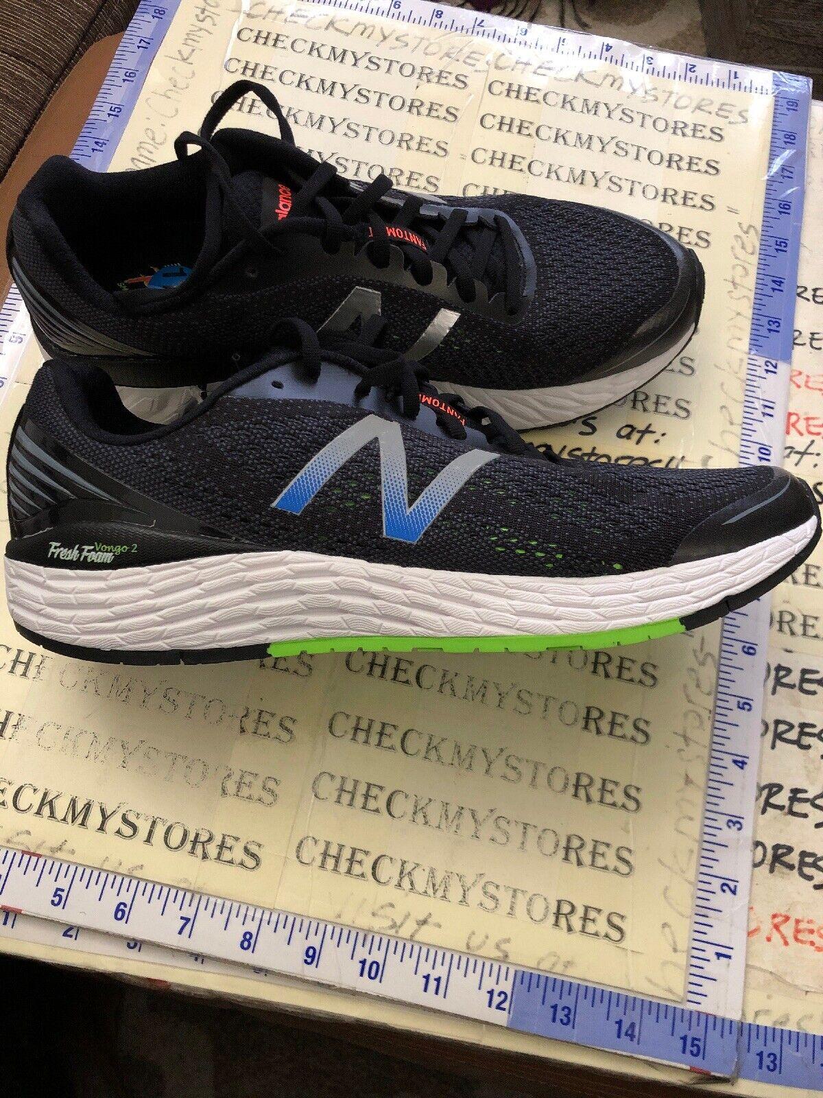New Balance Fresh Foam Vongo V2 BLACK Mens Running shoes US Size 11.5 (MVNGOBB2)