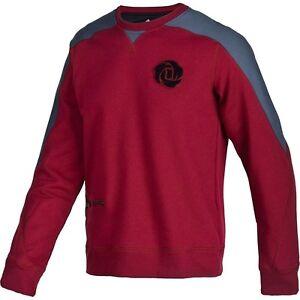 555726ba2 Adidas Mens Derrick Rose Crew L Sweatshirt Cardinal Darkonix Z56085 ...