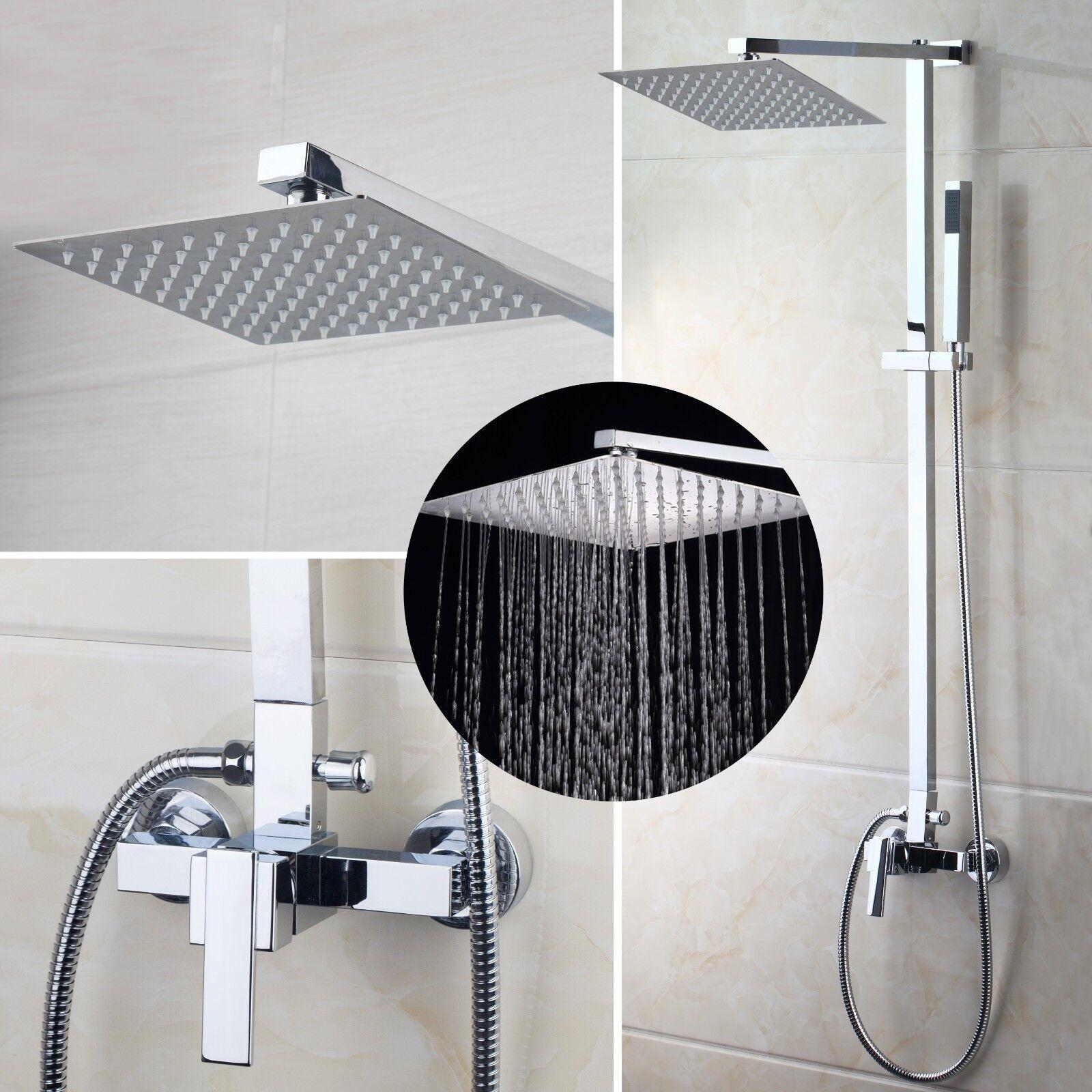 DE 8 Messing Badezimmer Dusche Regenfall Mauer Montiert Montiert Montiert Mischbatterie | Fein Verarbeitet  | Einfach zu spielen, freies Leben  | Luxus  | Professionelles Design  008edb