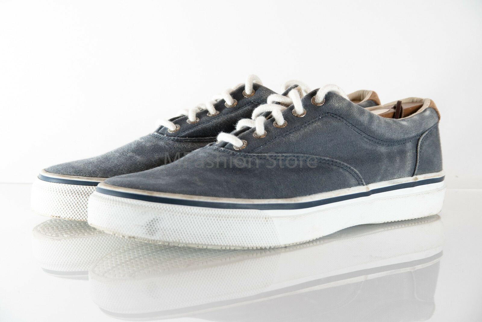 Sperry bluee Cotton Upper Lace Up CH171 Mens shoes Size US 10M Pre Owned Great
