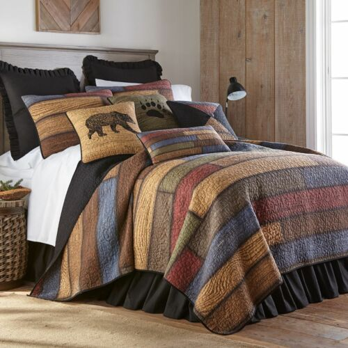 Donna Sharp Oakland Quilted Patchwork Rustic Country King 3-Piece Bedding Set